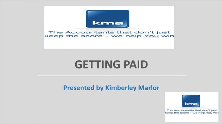 Getting Paid headline slide