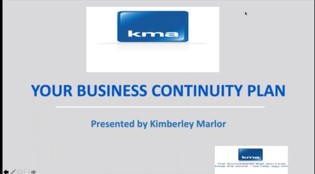 KMA Business Continuity Plan webinar